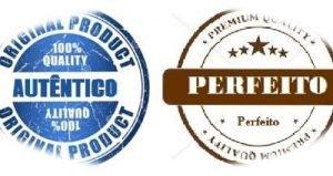 Autentico vs. Perfeito. Dois simbolos, o da perfeição e o outro da autenticidade.
